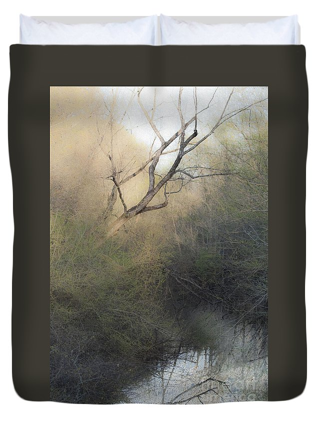Tree Duvet Cover featuring the mixed media Barren Beauty by Kim Henderson