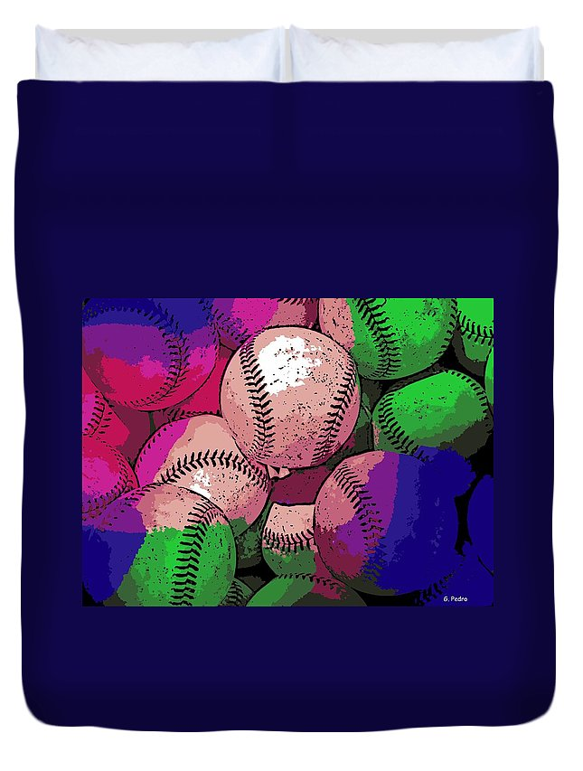 Baseball Duvet Cover featuring the photograph Baseball by George Pedro
