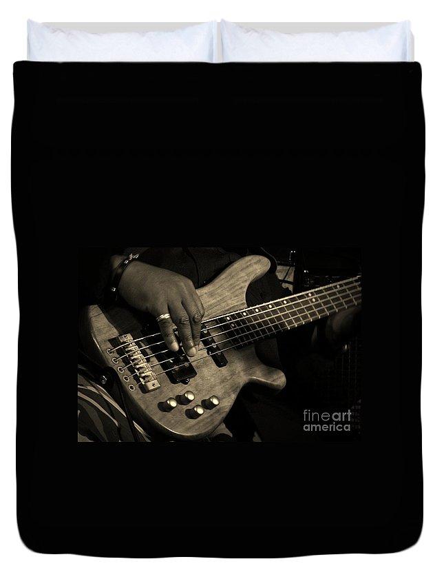 Bass Duvet Cover featuring the photograph Bass by Chris Berry