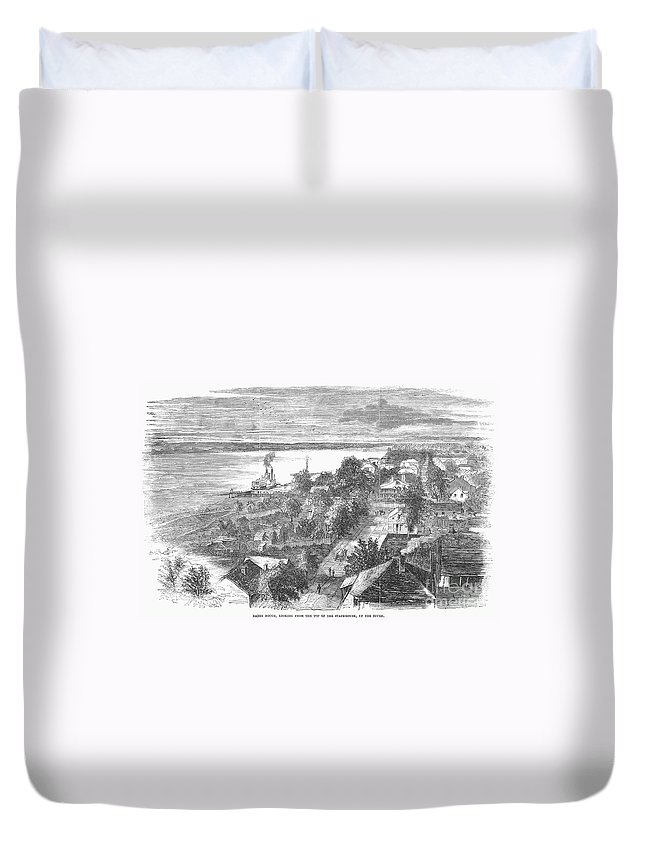 1862 Duvet Cover featuring the photograph Baton Rouge, 1862 by Granger