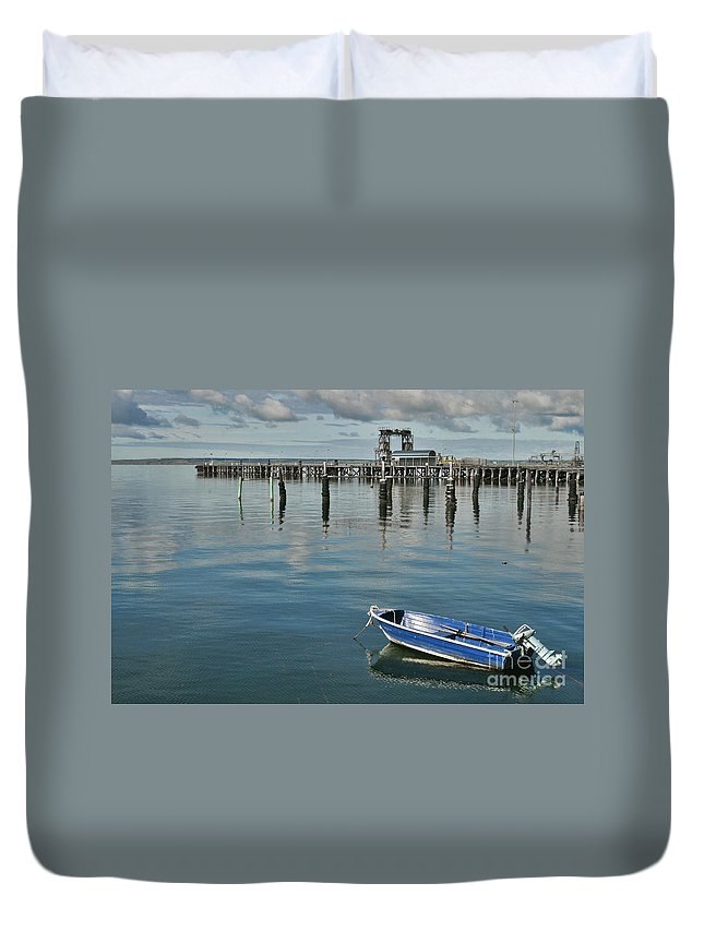 Boat Duvet Cover featuring the photograph Bay Of Whispers by Stephen Mitchell