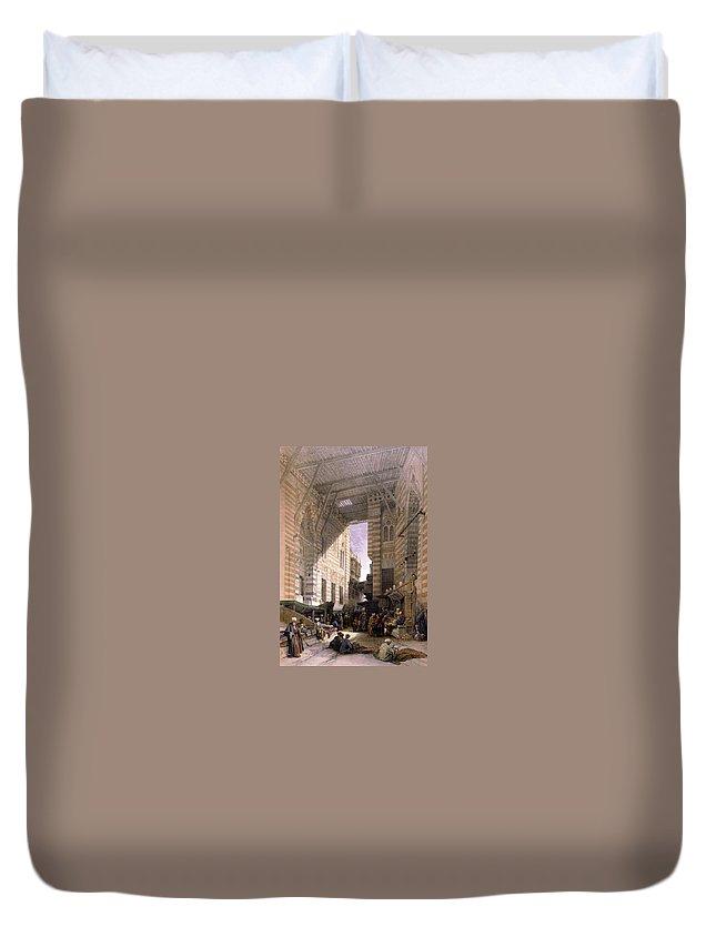 Bazaar Duvet Cover featuring the photograph Bazaar Of The Silk Mercers by Munir Alawi