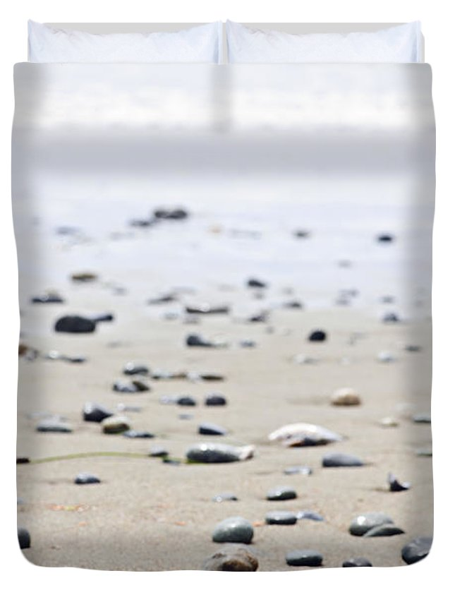Pacific Duvet Cover featuring the photograph Beach Detail On Pacific Ocean Coast Of Canada by Elena Elisseeva