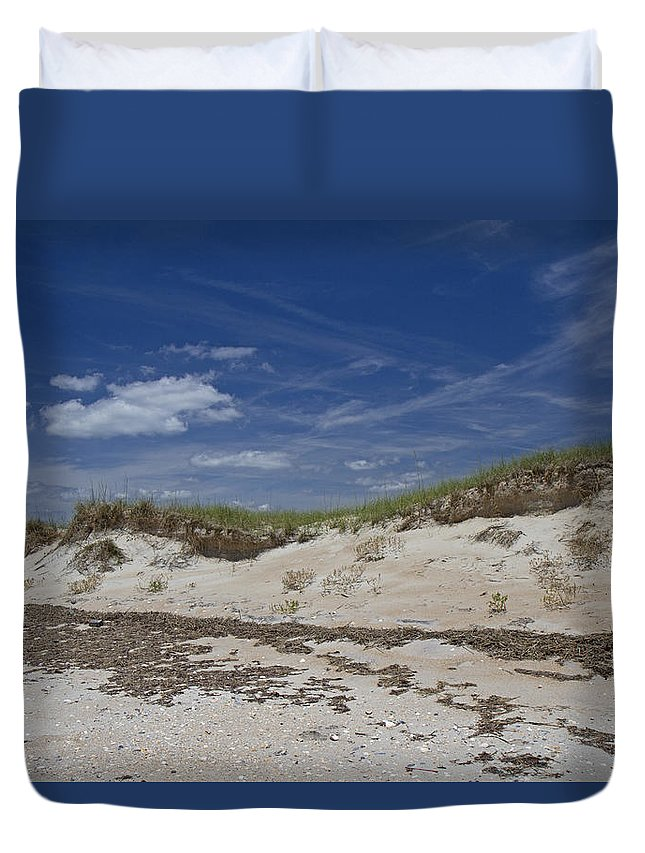 Shackleford Duvet Cover featuring the photograph Beach Dunes by Betsy Knapp