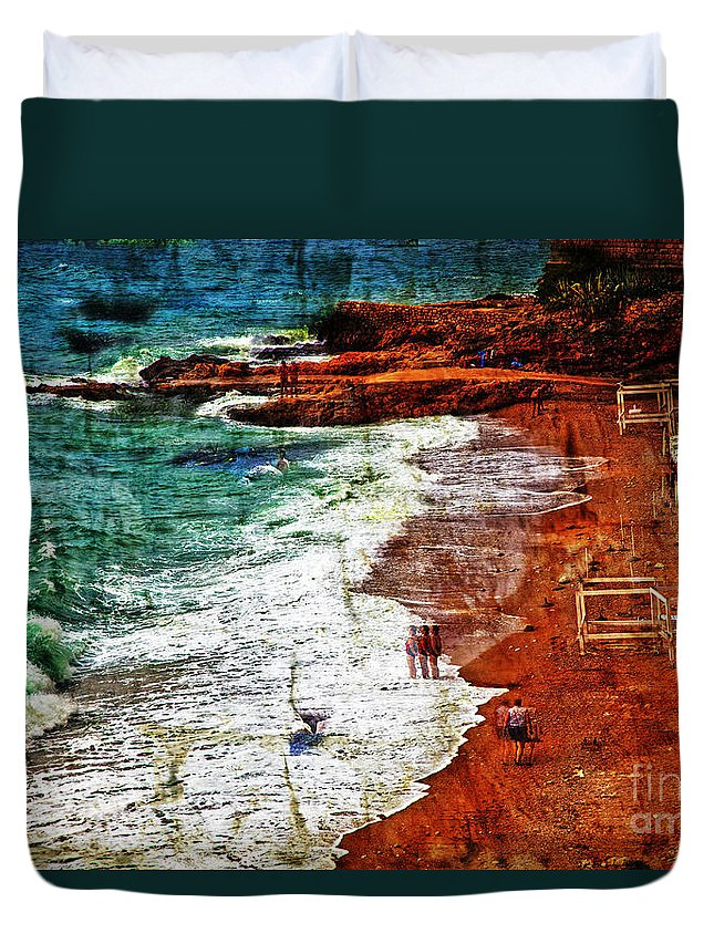 Beach Duvet Cover featuring the photograph Beach Fantasy by Madeline Ellis