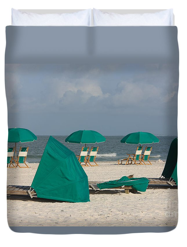 Clarence Holmes Duvet Cover featuring the photograph Beach Furniture II by Clarence Holmes