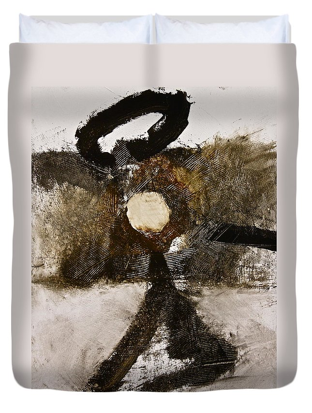 Abstract Paintings Duvet Cover featuring the painting Beachcomber by Cliff Spohn