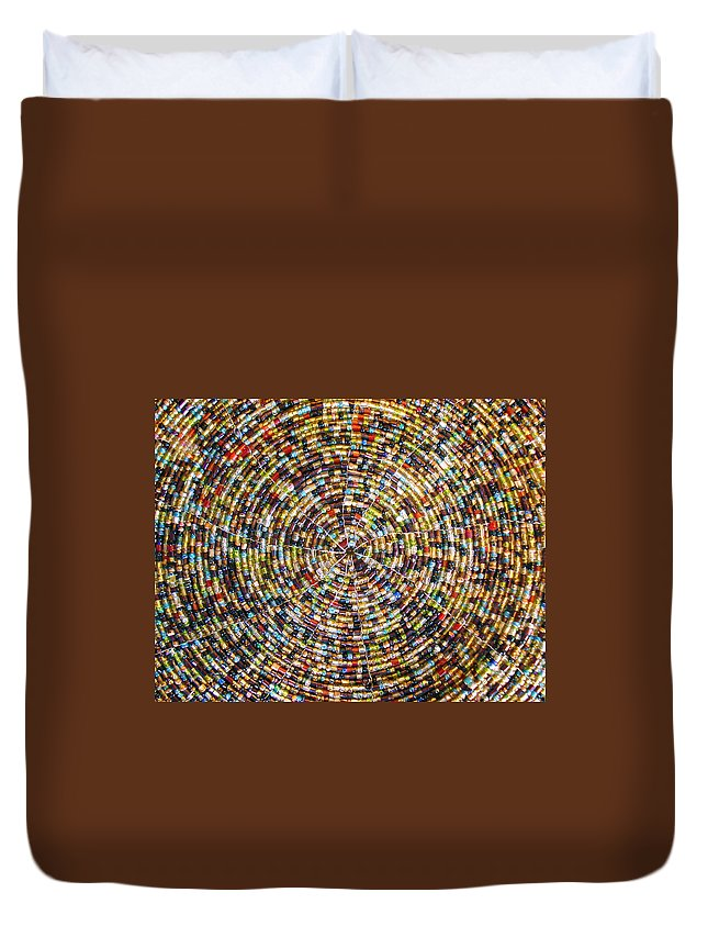 Blossoming Duvet Cover featuring the photograph Beaded Indian Work by Sumit Mehndiratta