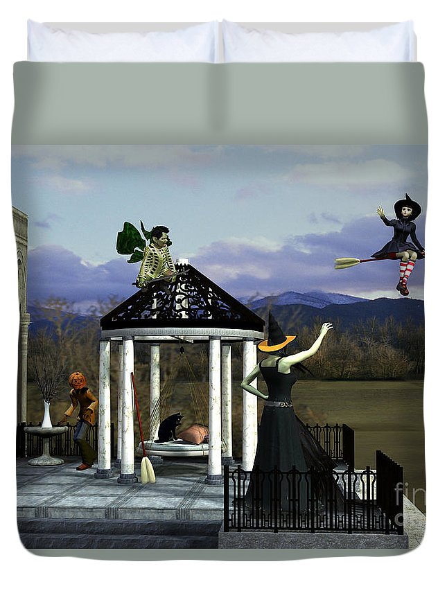 Before Dorothy Duvet Cover featuring the painting Before Dorothy Came To Oz by Methune Hively