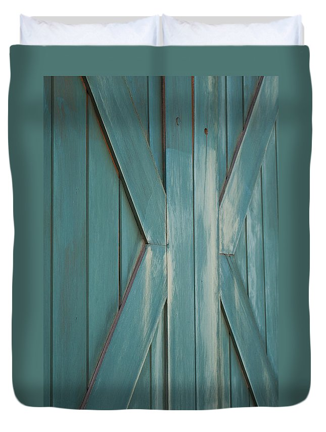 Door Duvet Cover featuring the photograph Behind Closed Doors by Colleen Coccia