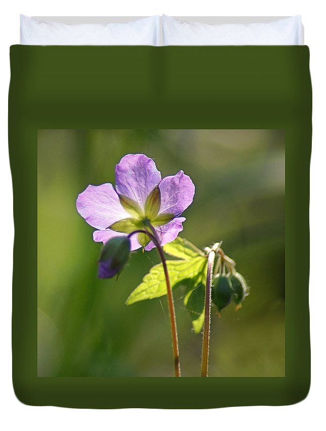 Wildflower Duvet Cover featuring the photograph Behind The Scenes by Bill Pevlor