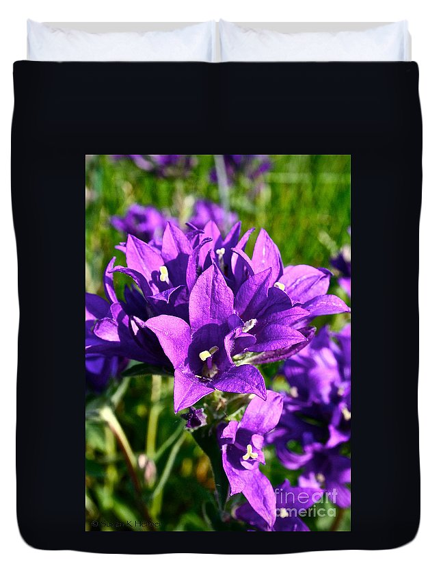 Plant Duvet Cover featuring the photograph Bell Flowers by Susan Herber