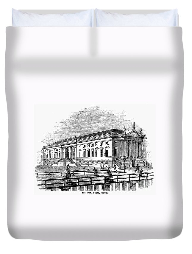 1843 Duvet Cover featuring the photograph Berlin: Opera House, 1843 by Granger