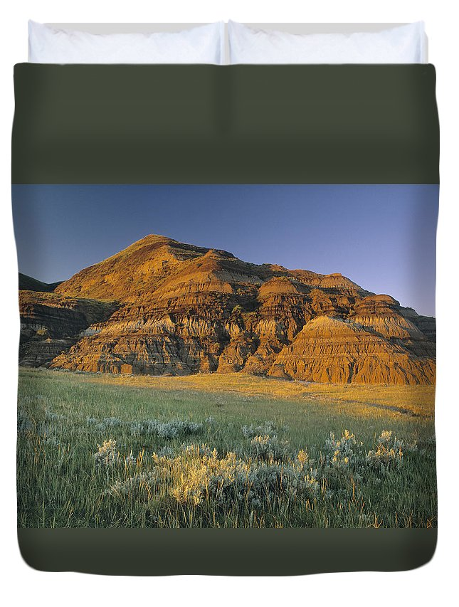 Light Duvet Cover featuring the photograph Big Muddy Badlands, Saskatchewan, Canada by Darwin Wiggett