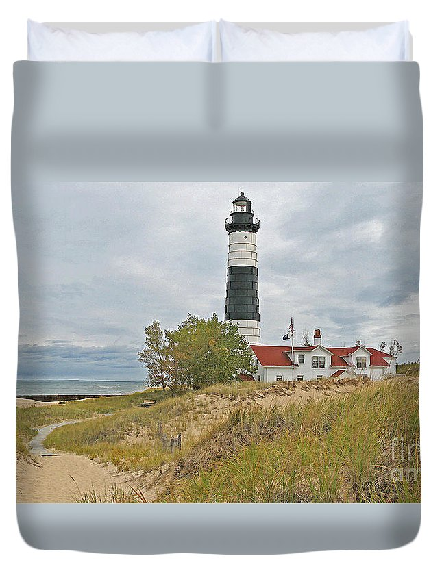 Lighthouse Duvet Cover featuring the photograph Big Sable Lighthouse by Jack Schultz