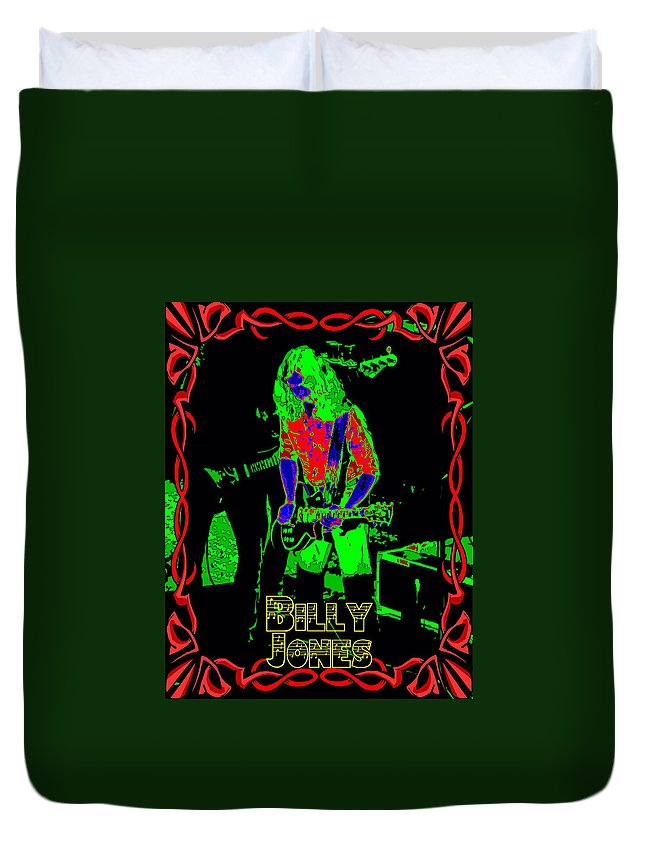 Billy Jones Duvet Cover featuring the photograph Billy Gets Psychedelic by Ben Upham