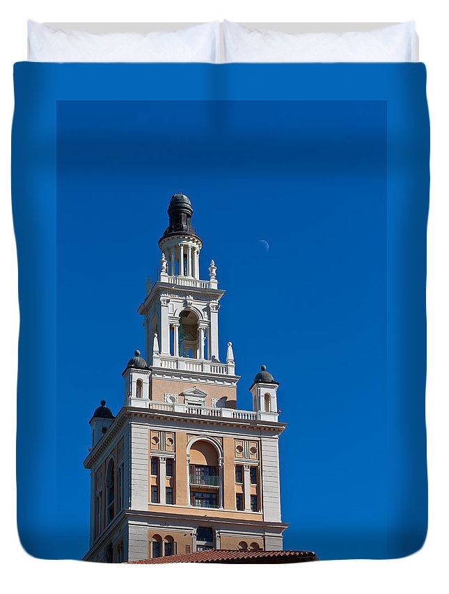 Biltmore Duvet Cover featuring the photograph Coral Gables Biltmore Hotel Tower by Ed Gleichman