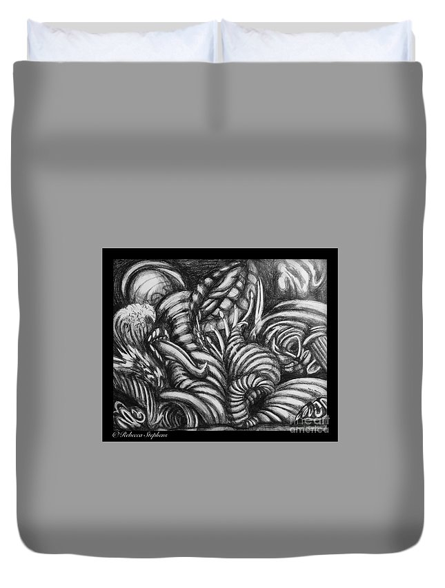 Geiger Duvet Cover featuring the photograph Biomorphic by Rebecca Stephens