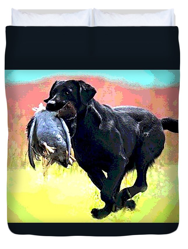 Irish Setter Duvet Cover featuring the photograph Bird Dog by George Pedro