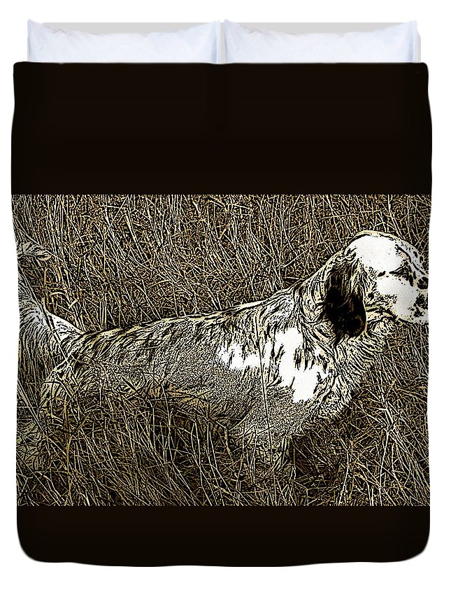 Bird Dog Duvet Cover featuring the photograph Bird by George Pedro
