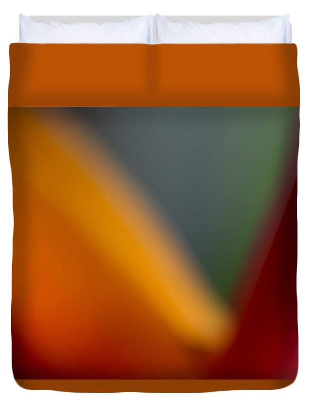 Abstract Duvet Cover featuring the photograph Bird Of Paradise Abstract by Roger Mullenhour