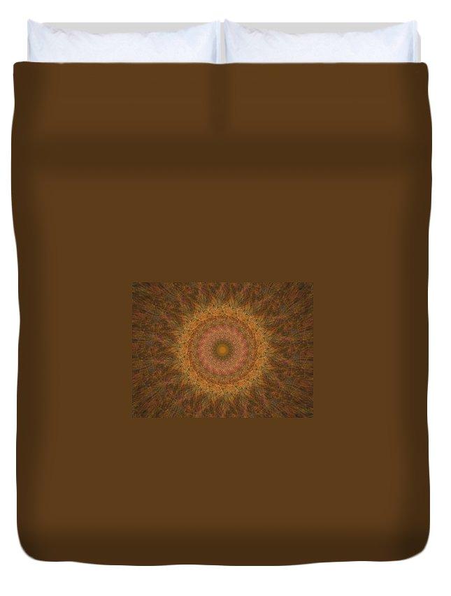 Mandala Duvet Cover featuring the digital art Birthing Mandala 18 by Rhonda Barrett