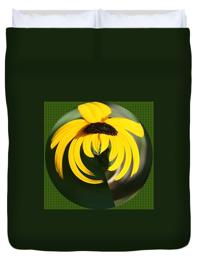 Duvet Cover featuring the photograph Black Eyed Sphere by Barbara S Nickerson