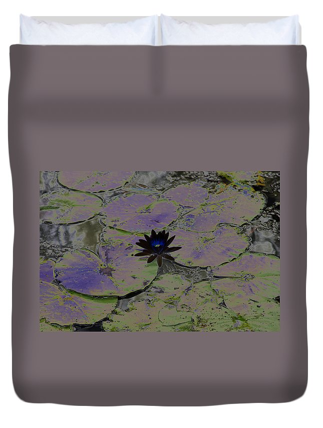Black Duvet Cover featuring the photograph Black Lili by Carolyn Stagger Cokley