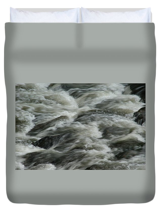 River Duvet Cover featuring the photograph Black Water by Brian Kerls