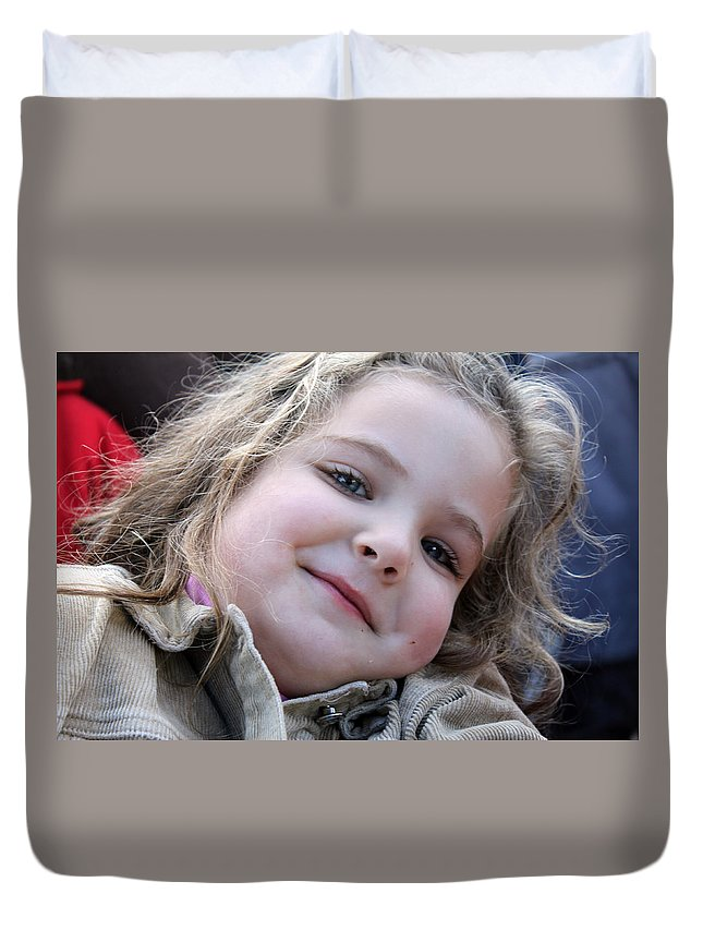 Child Duvet Cover featuring the photograph Blond Hair by Munir Alawi