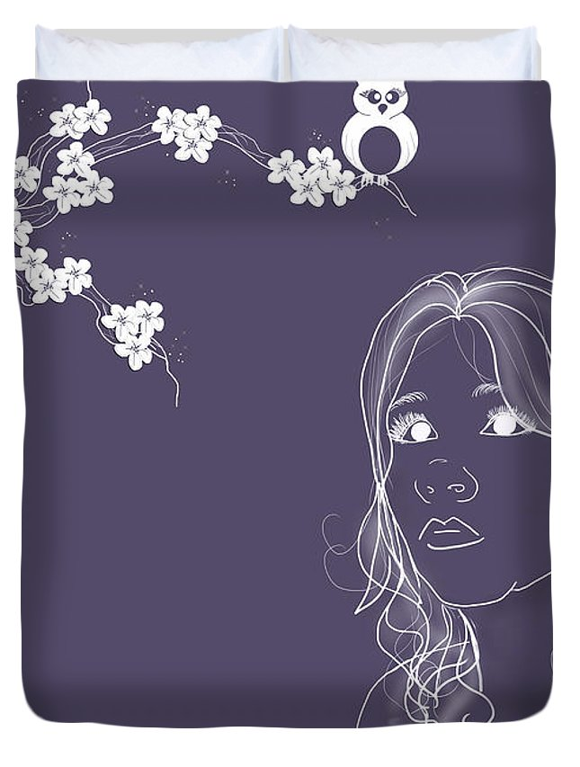 Lisa Knechtel Duvet Cover featuring the photograph Blossom by Lisa Knechtel