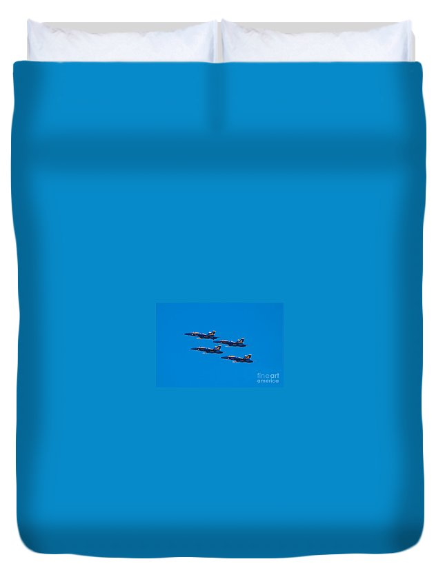 Blue Angels Duvet Cover featuring the photograph Blue Angels 25 by Mark Dodd