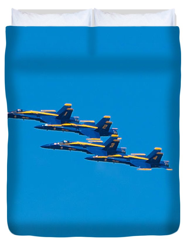 Blue Angels Duvet Cover featuring the photograph Blue Angels by Mark Dodd