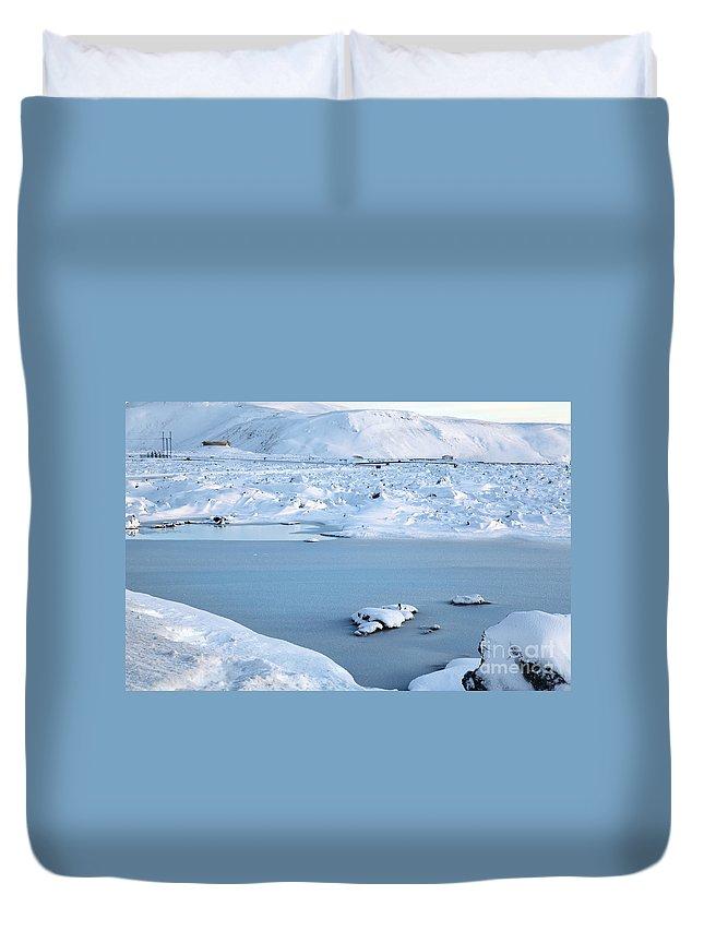 Blue Lagoon Duvet Cover featuring the photograph Blue Lagoon by Milena Boeva