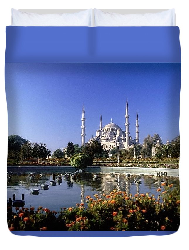 Blooming Duvet Cover featuring the photograph Blue Mosque, Sultanahmet, Istanbul by The Irish Image Collection