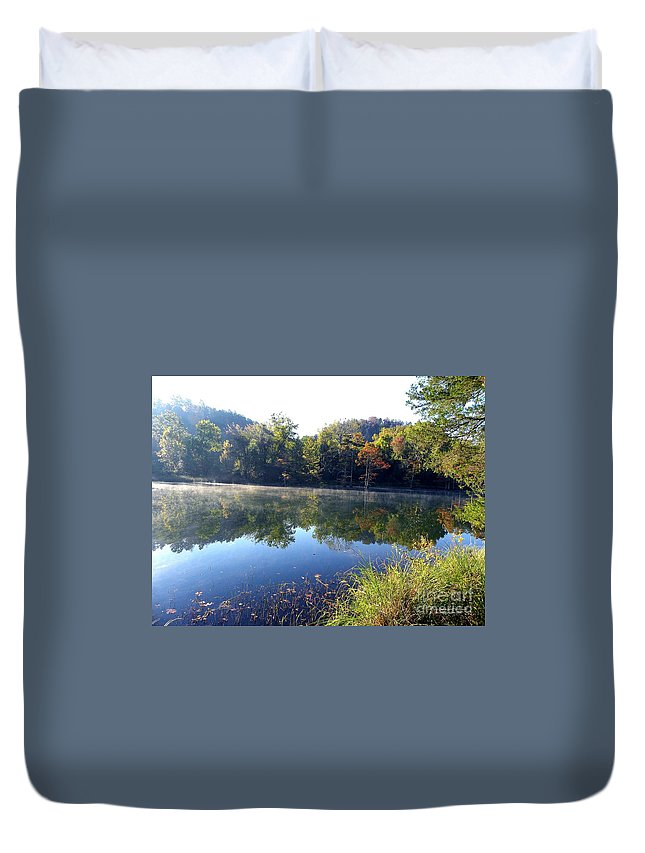Nature Duvet Cover featuring the photograph Blues by Tisha Clinkenbeard