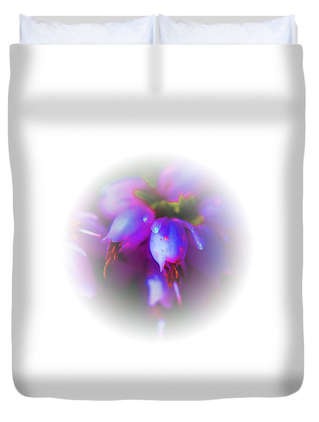 Flowers Duvet Cover featuring the photograph Blush by Marie Jamieson