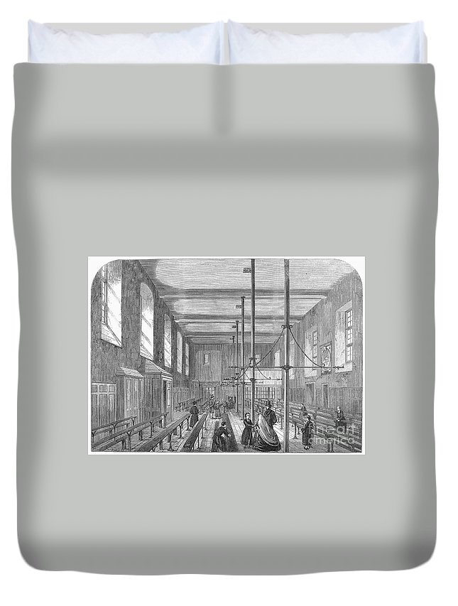 1862 Duvet Cover featuring the photograph Boarding School, 1862 by Granger