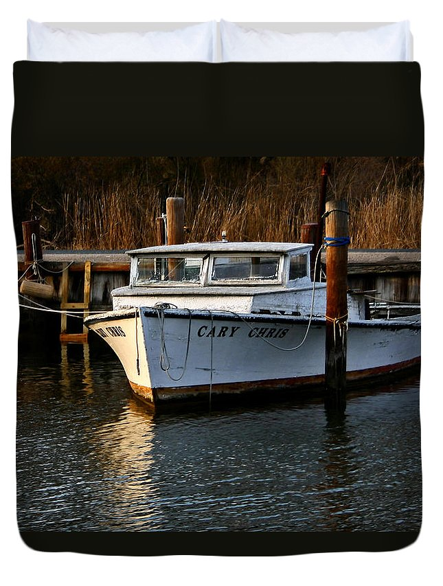 Boat Duvet Cover featuring the photograph Boat At Rest by Karen Harrison