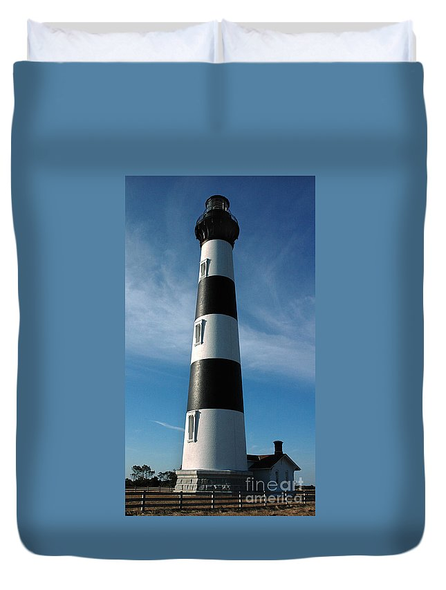Bodie Island Lighthouse Duvet Cover featuring the photograph Bodie Island Lighthouse by Vivian Christopher