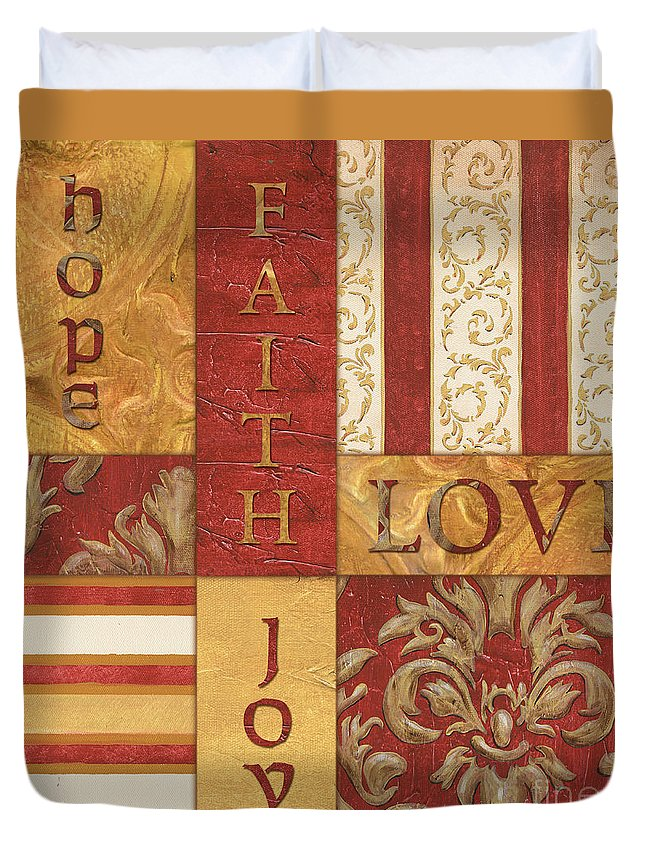 Inspiration Duvet Cover featuring the painting Bohemian Red Spice 1 by Debbie DeWitt