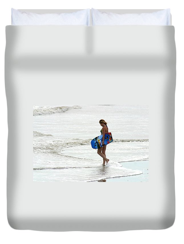 Gary Gingrich Duvet Cover featuring the photograph Boogie Board 0669b by Gary Gingrich Galleries