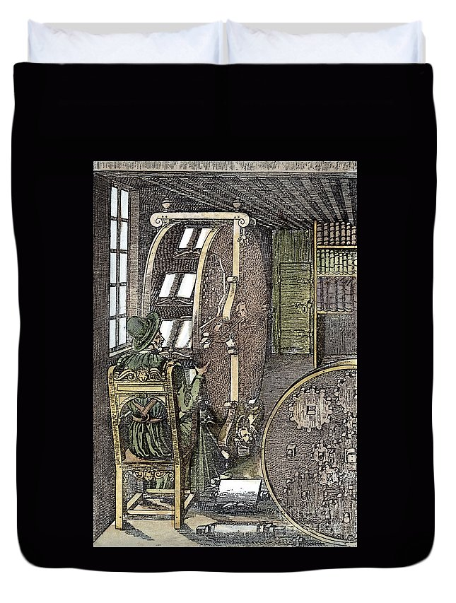1588 Duvet Cover featuring the photograph Bookwheel, 1588 by Granger