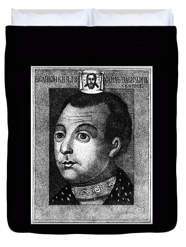 1590s Duvet Cover featuring the photograph Boris Godunov (c1551-1605) by Granger