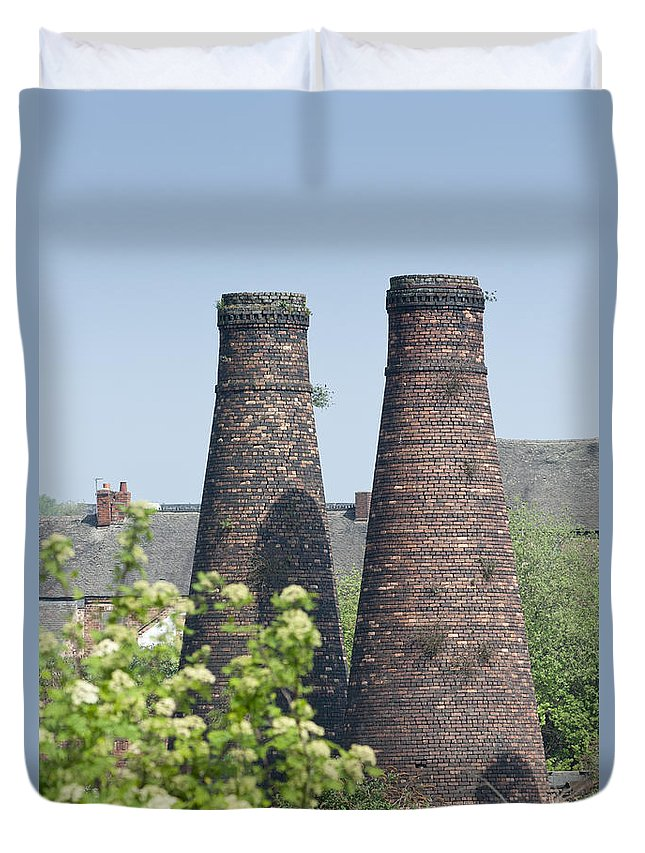 2011 Duvet Cover featuring the photograph Bottle Kilns by Andrew Michael