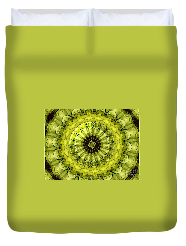 Yellow Roses Duvet Cover featuring the photograph Bouquet Of Roses Kaleidoscope 11 by Rose Santuci-Sofranko