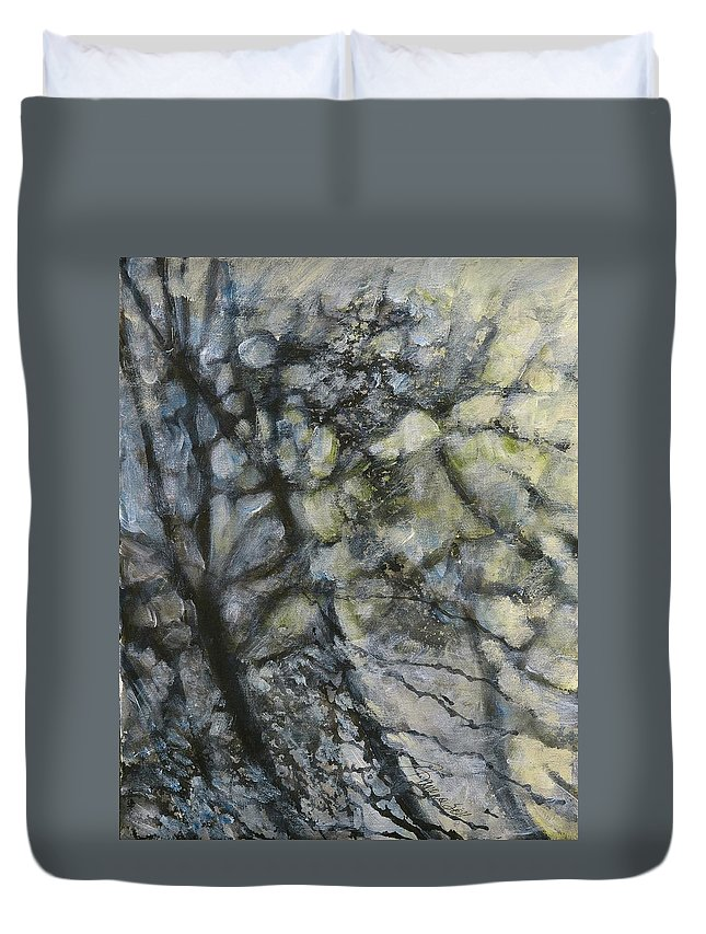 Trees Duvet Cover featuring the painting Branches In Winter by Francine Mabie