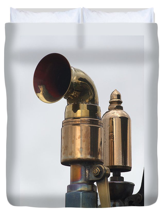 Brass Duvet Cover featuring the photograph Brass Horn by Chris Day