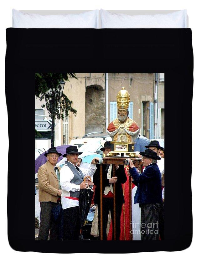 Festival Duvet Cover featuring the photograph Bravades De Saint Clement by Lainie Wrightson