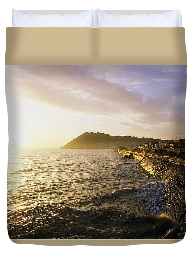 Communities Duvet Cover featuring the photograph Bray Promenade, Co Wicklow, Ireland by The Irish Image Collection